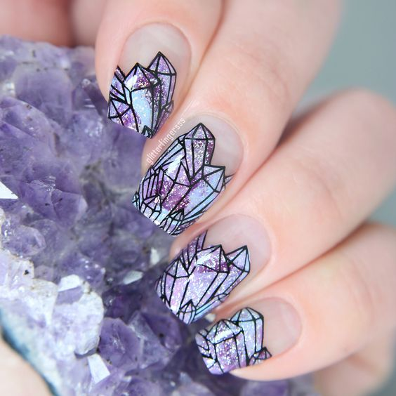 Manicure with curazos print