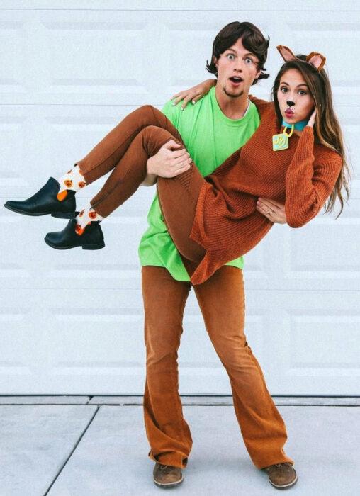 Ideas para disfraces de películas, series y caricaturas para Halloween; Scooby Doo y Shaggy