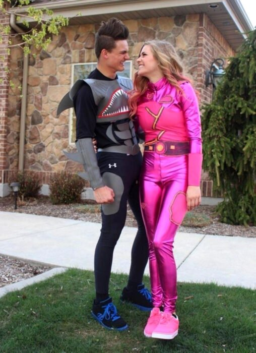 Ideas para disfraces de películas, series y caricaturas para Halloween; Sharkboy y Lavagirl