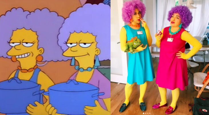 Chicas disfrazadas como Selma y Paty