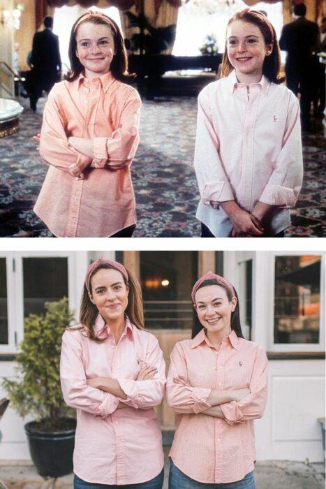 Disfraz inspirado en la película Juego de Gemelas con  Lindsay Lohan
