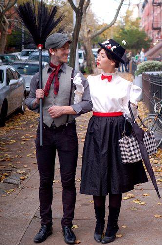 Disfraz de pareja inspirado en la película Mary Popins