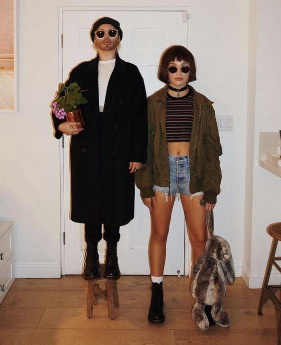 Amigas disfrazadas como Leon y Matilda la película El profesional
