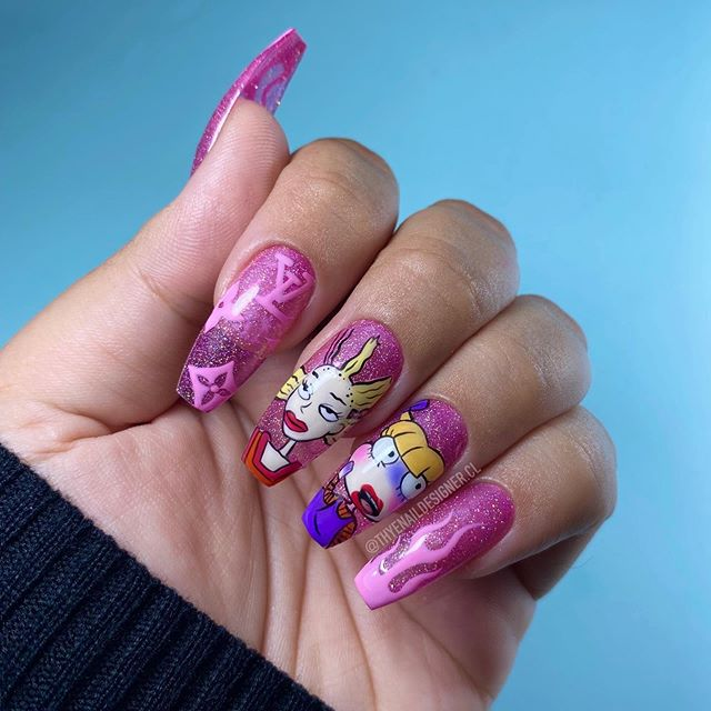 Angelica's nails from Rugrats