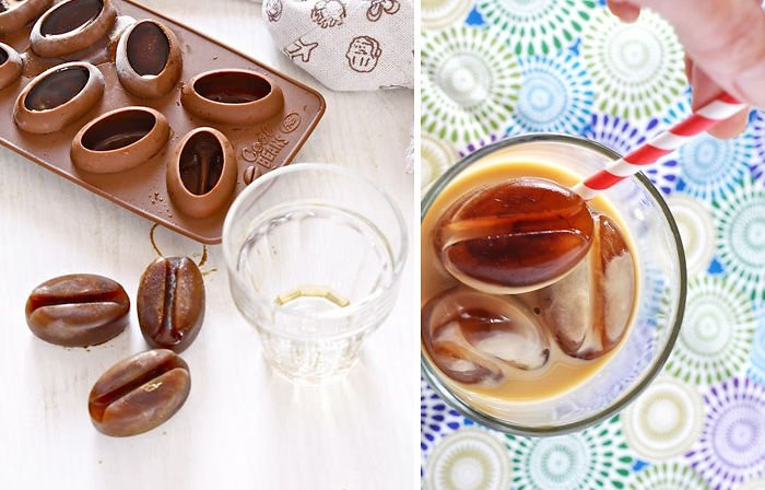 Cubitera de hielo en forma de granos de café