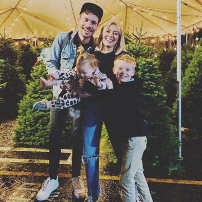 Hilary Duff junto a su familia