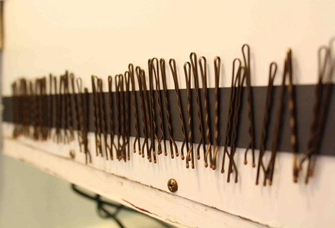 Banda magnética para sostener broches de pelo