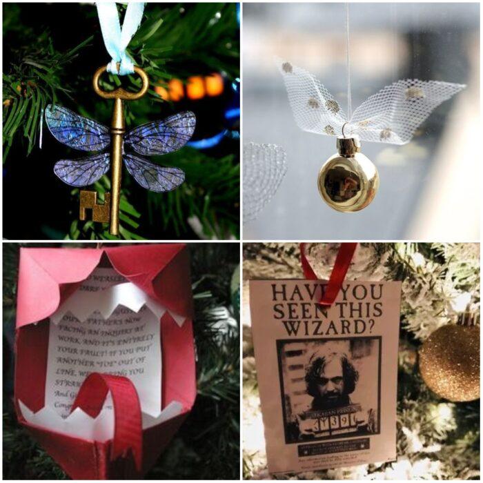 Esferas navideñas inspiradas en Harry Potter