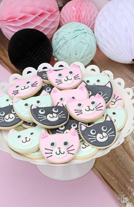 Galletas de mantequilla en forma de gato