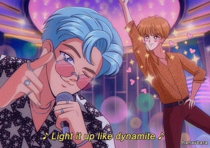 Artista hanavbara ilustra dibujos de personajes de series, películas o cantantes al estilo de Sailor Moon; BTS