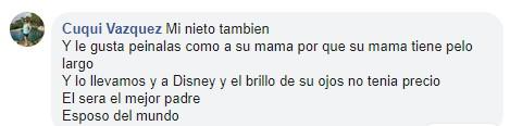 Comentario en Facebook sobre niño que pidió una muñeca de regalo