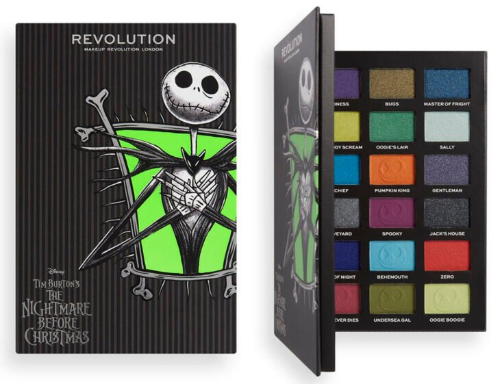 paleta Jack de la colección Makeup Revolution x Nightmare Before Christmas
