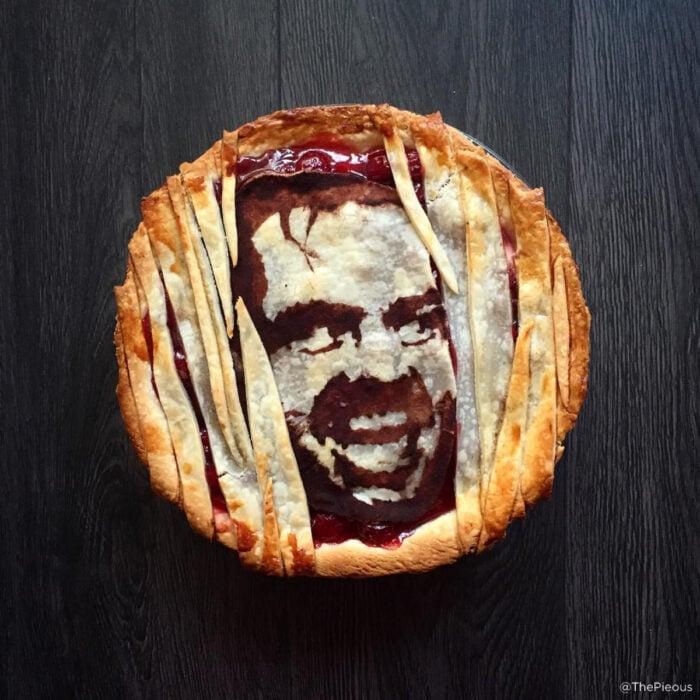 Artista repostera Jessica Clark-Bojin crea pays de Halloween; The Shining, El resplandor, Jack Torrance