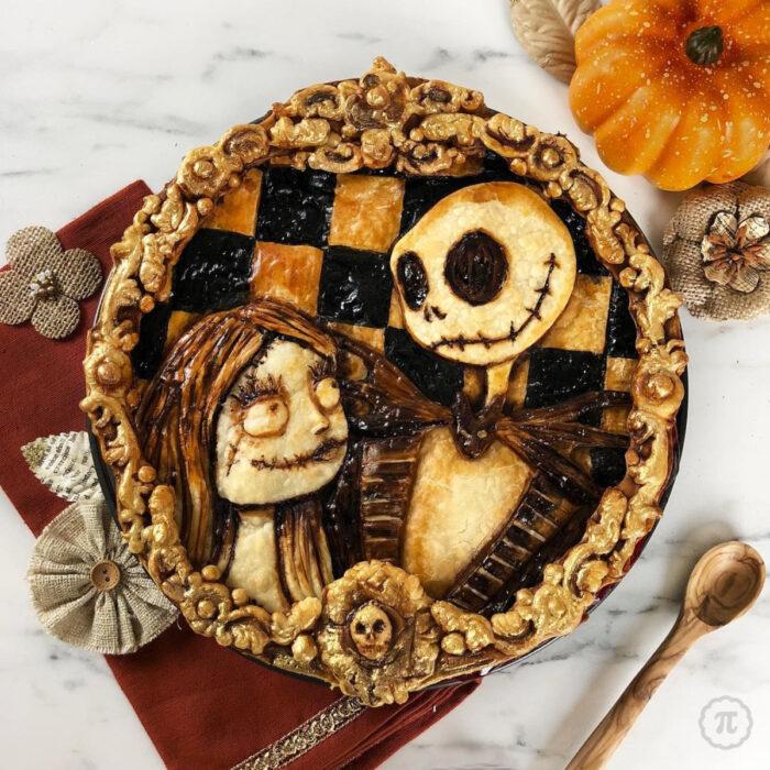 Artista repostera Jessica Clark-Bojin crea pays de Halloween; Jack Skellington y Sally, Pesadilla antes de Navidad, El extraño mundo de Jack, Nightmare Before Christmas