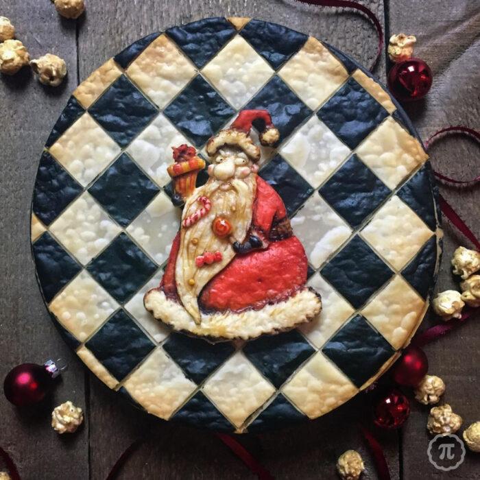 Artista repostera Jessica Clark-Bojin crea pays de Halloween; Santa Claus de El extraño mundo de Jack, Nightmare Before Christmas, Pesadilla antes de Navidad