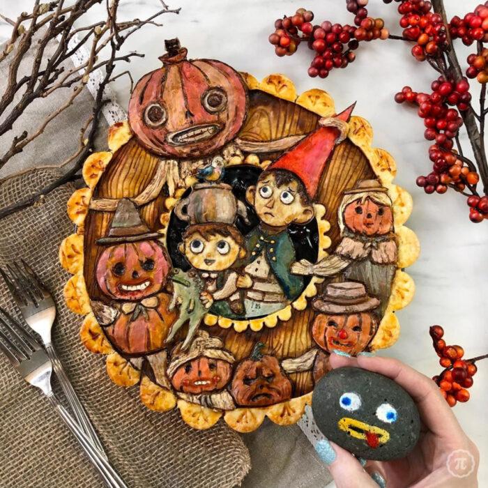 Artista repostera Jessica Clark-Bojin crea pays de Halloween; serie Más allá del jardín, Over the Garden Wall