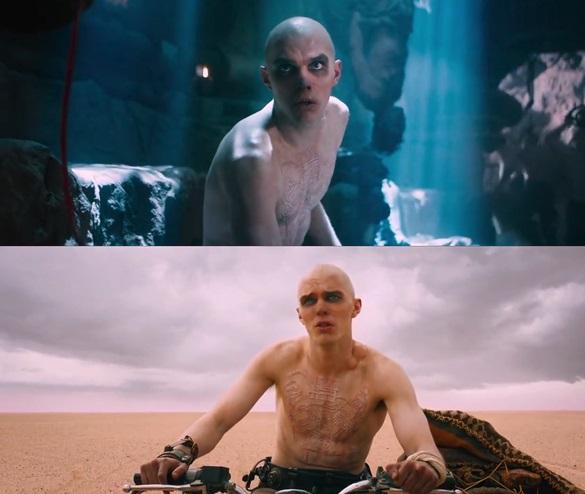 Escena de la película Mad Max: Furia en el camino con Nicolas Hoult