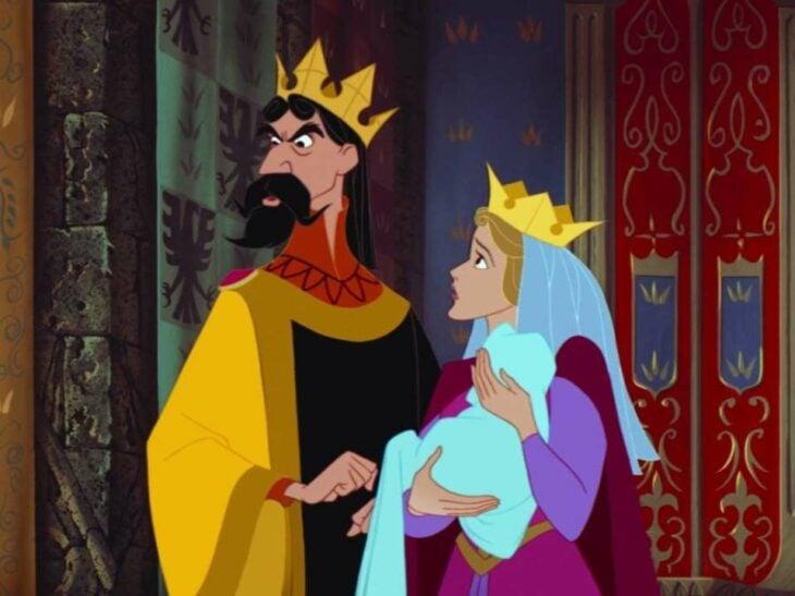 Rey Estéfano y Reina Flor, padres de Aurora de La bella durmiente