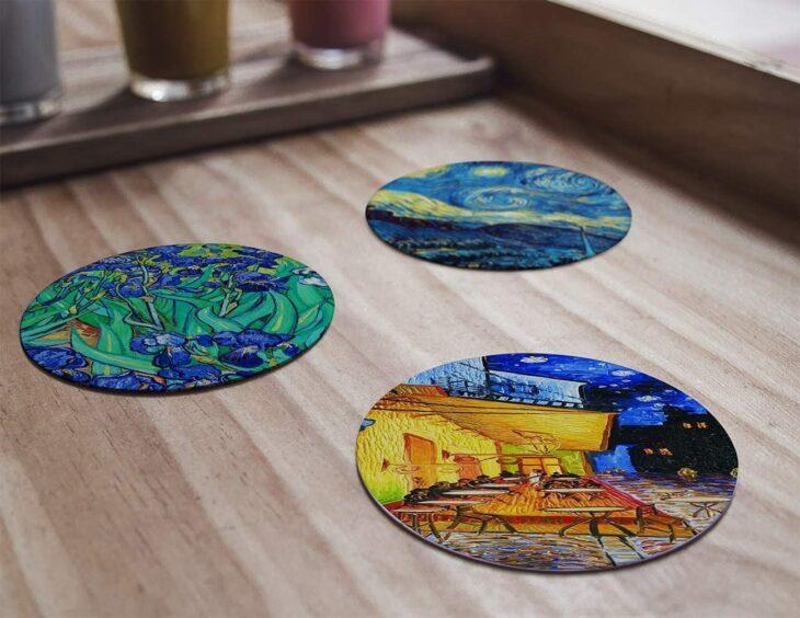 Portavasos con arte de Van Gogh