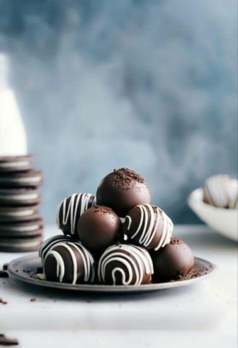Trufas de chocolate oreo