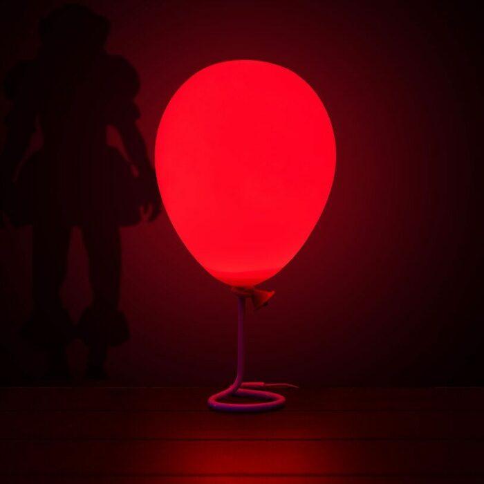 Lampara de pennywise globo rojo