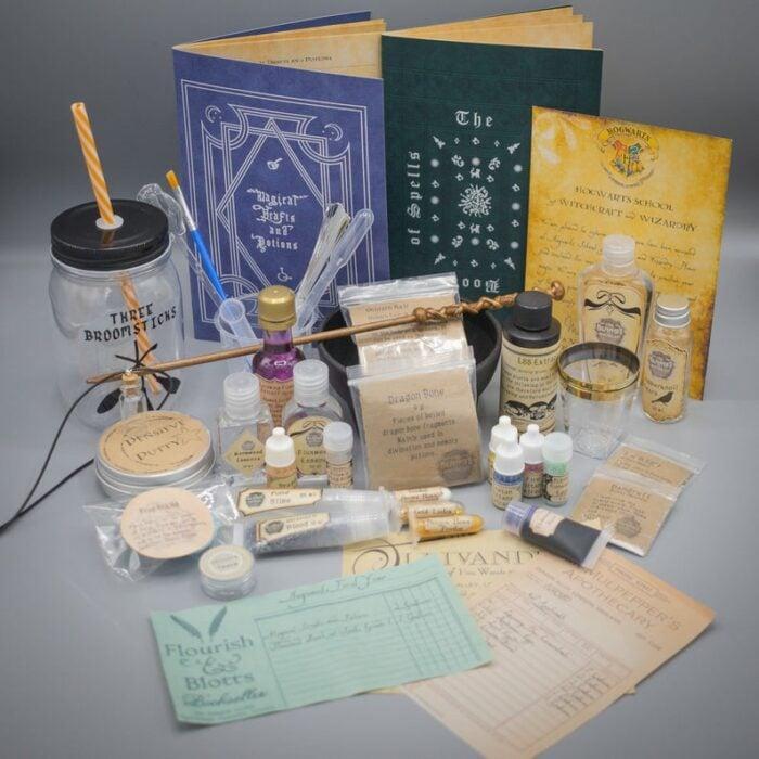Kit de pociones magicas inspiradas en Harry Potter