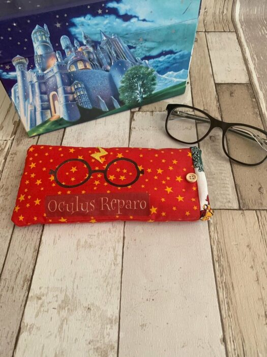 Protector de anteojos inspirado en Harry Potter