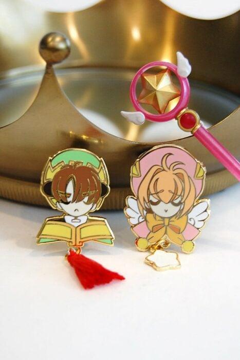 Pins decorativos inspirados en los personajes de sakura card captor