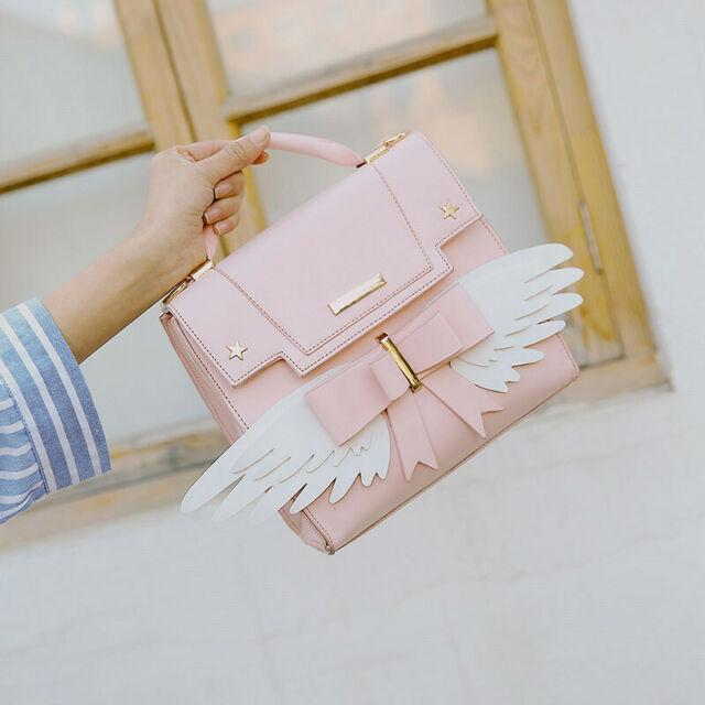 Bolsa de mano color rosa inspirada en sakura card captor