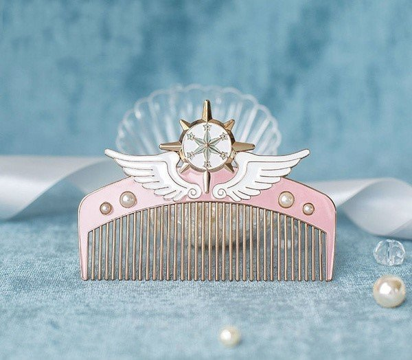 Peineta rosa inspirada en sakura card captor