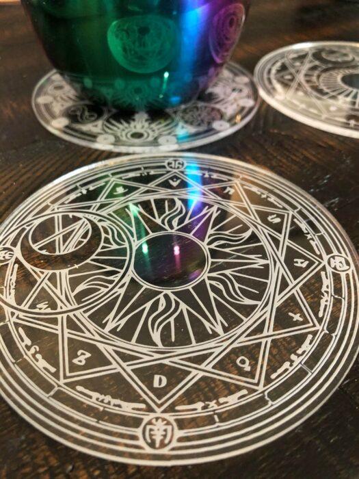 Portavasos de cristal con diseño de sakura card captor