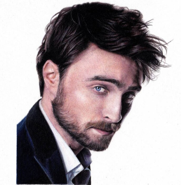 Artista Shaun Mckenzie pinta retratos realistas con lápices de colores; Daniel Radcliffe, Harry Potter