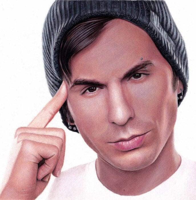 Artista Shaun Mckenzie pinta retratos realistas con lápices de colores; youtuber Jake Roper