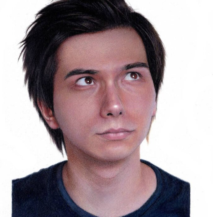 Artista Shaun Mckenzie pinta retratos realistas con lápices de colores; youtuber Duncan Pain