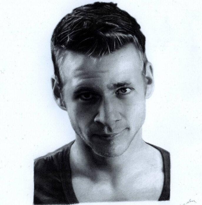 Artista Shaun Mckenzie pinta retratos realistas con lápices de colores; Youtuber Jazza