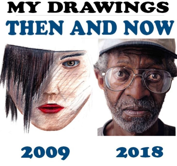 Evolución de artista que crea retratos realistas, Shaun Mckenzie