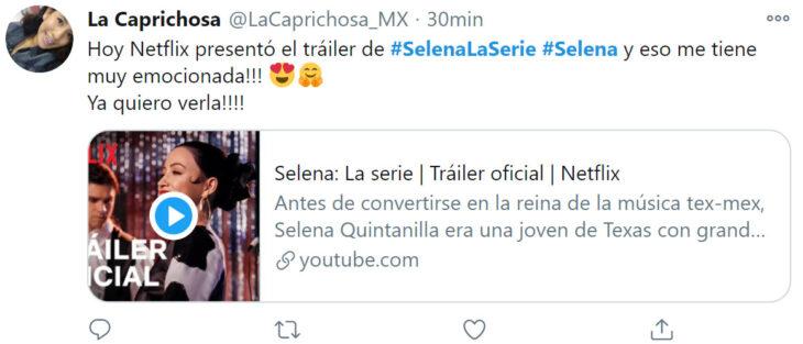 Reacción de Twitter ante el trailer oficial de 'Selena: la serie'