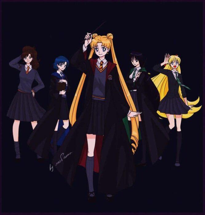 Personajes de Sailor moon en Hogwarts