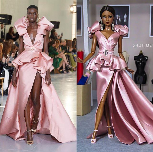Creaciones de alta moda para Barbies por Shuiimedina