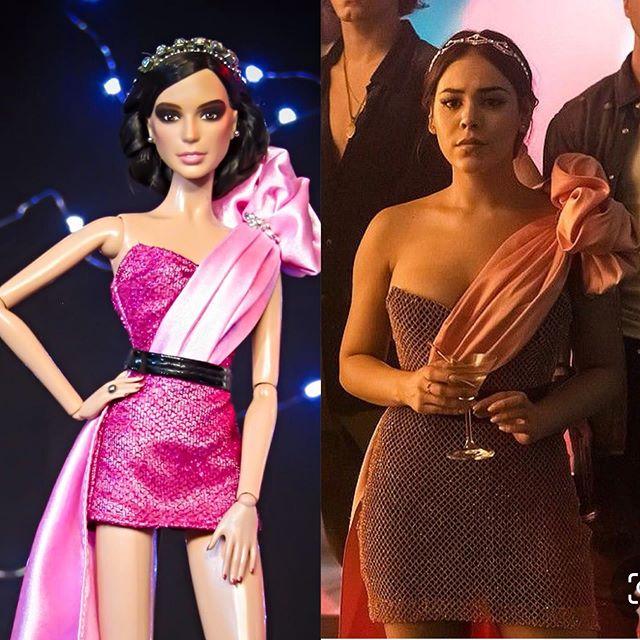 Barbie con vestido de Lucrecia élite
