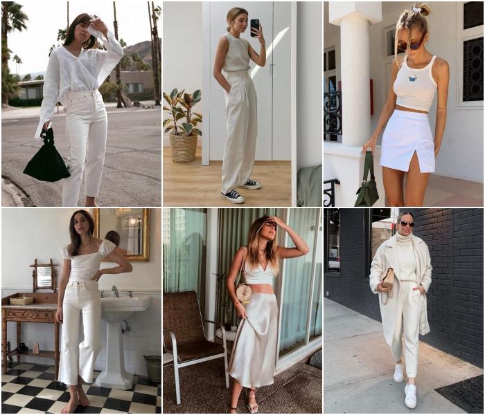 outfits en color blanco para las chicas cáncer