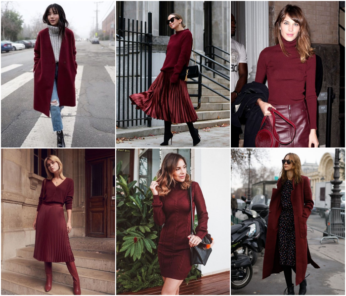 outfits en color guinda para las chicas escorpio