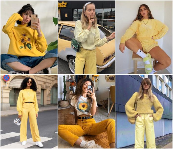 outfits en color amarillo ideales para las chicas leo