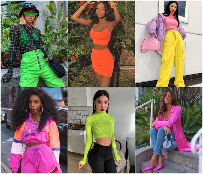 outfits en color neón para las chicas acuario