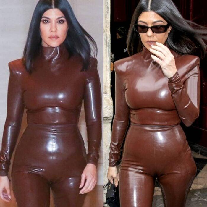 Kourtney Kardashian en una comparación de la realidad vs los filtros que usa en su cuenta de Instagram