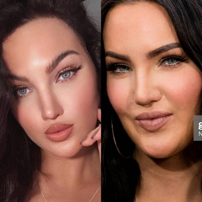 Cuenta de Instagram que hace una comparación de cómo son los famosos vs como abusan de los filtros de Instagram