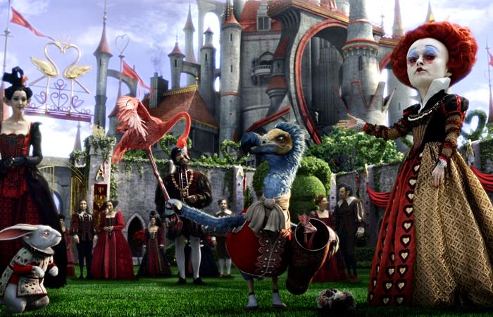 escena de la película alice in wonderland