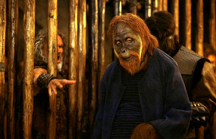 escena de la película planet of the apes