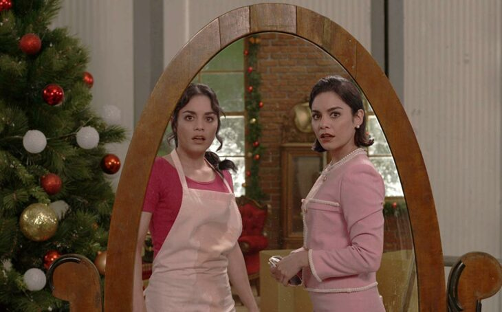 Escena de la película Intercambio de princesas con Vanessa Hudgnes