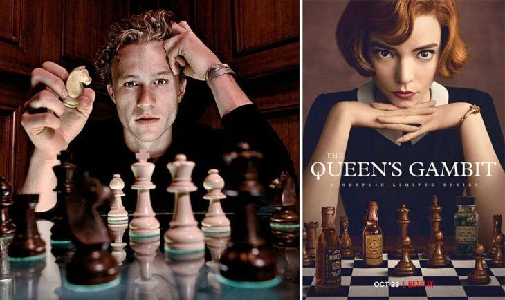Heath Ledger frente a un tablero de ajadrez; Razones para ver Gambito de dama